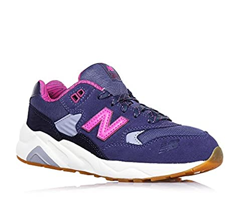 NEW BALANCE - Violet and fuchsia lace-up gym shoe, made of suede and fabric, with (Fucsia Tessuto Calzature)