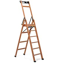 Foppapedretti laScala 6 - Escalera de tijera   (47 cm, 100 cm, 2,07m) Nuez