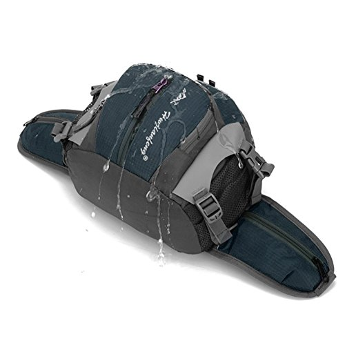 Candoran Waterpoof Outdoor sport marsupio borsa a tracolla Crossbody messenger bag per escursionismo, arrampicata, campeggio, ciclismo, caccia, Red Blue