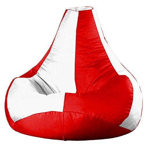 Rest n Sleep bean bag cover Tear Drop White Red XXXL Cover Only  available at amazon for Rs.439