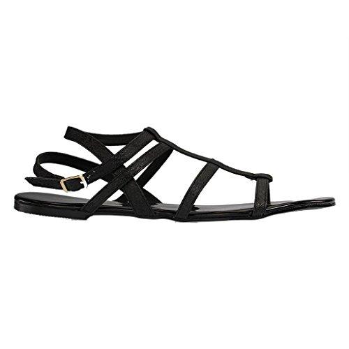 ANDRÉS MACHADO - Damen Sandalen - Schwarz Schuhe in Übergrößen Schwarz