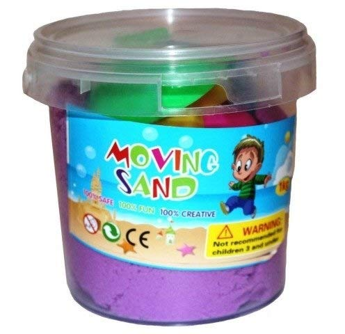 SKYFUN (LABEL) Flexible Creative Cotton Mud Slime Squishy Putty Kids Fluffy Play Kinetic Sand with Moulds-Multi Color (500 Grams)