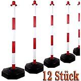 Postes postes limitación postes Blanco/Rojo–Tamaño 90cm