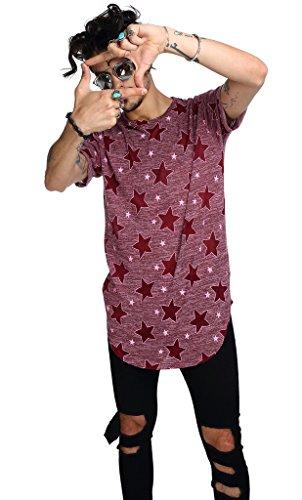Pizoff Unisex Hip Hop Urban Basic Langes T Shirts mit Tarnmuster C7037-06