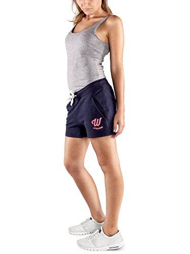 WOLDO Athletic Sweatshorts für Damen mit elastischen Bund Regular Fit Größe S Farbe Blau