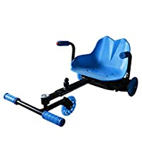 Samrt Self Balance Electric Scooter Karting Car Scooter Drifting Wave Roller Ride On Toy Bluetooth & Light & USB - color Blue