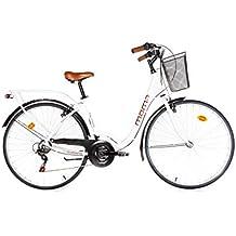 """Moma Bikes, Bicicletta Passeggio Citybike SHIMANO. Alluminio, 18 velocità, ruota da 28"""""""