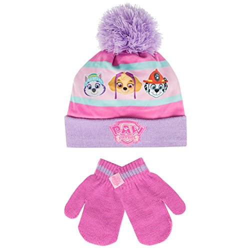 Paw patrol - set cuffia e guanti del ragazze - paw patrol - 4 a 6 anni