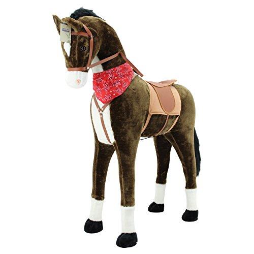 Sweety Toys 11525 GIANT XXL Riesen Pferd Plüschpferd Chocolate Stehpferd - 5