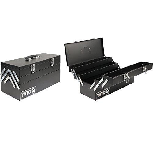 Yato yt-0885–Werkzeugkasten 460x 200x 225mm mit Kragarm