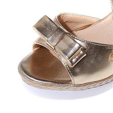 LvYuan Sandali-Ufficio e lavoro Formale Casual-Comoda Club Shoes-Zeppa-Vernice Finta pelle-Blu Rosa Argento Dorato Gold