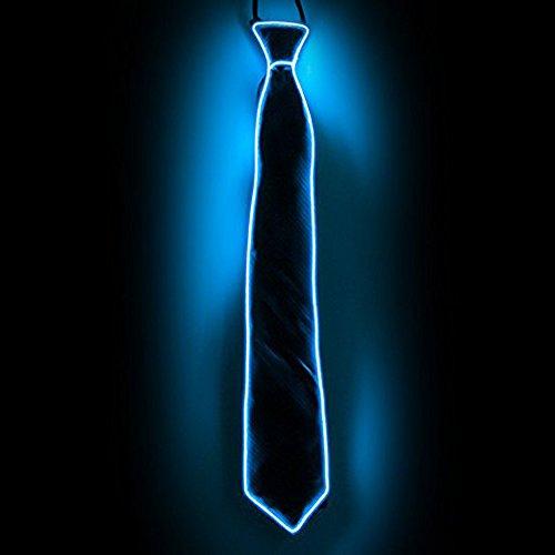 rawatte,Party Leucht Krawatte mit LED Beleuchtung,Tanzperformance,Krawatte der kalten hellen Männer Drei Blitzmodi,EL Nachtbar,Party decoratie voor Halloween.(Blau) (Baum Mann Kostüme)