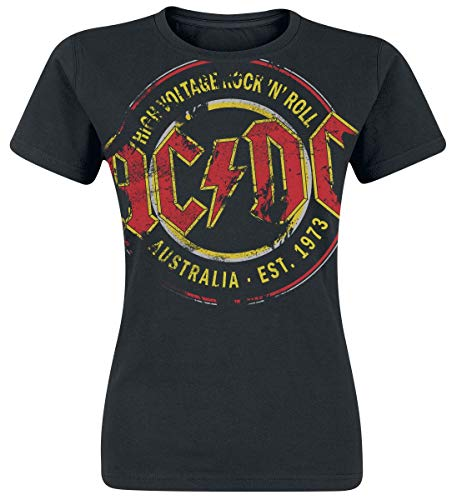 AC/DC High Voltage - Australia Est. 1973 Vintage Camiseta Mujer...