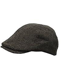 New Men s Heritage Traditions Check Tweed Farmer Festival Flat Cap Hat 43e9eae29ecb