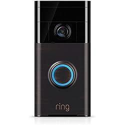 Ring Video Doorbell | Sonnette Vidéo HD avec notifications activées par le mouvement et système audio bidirectionnel