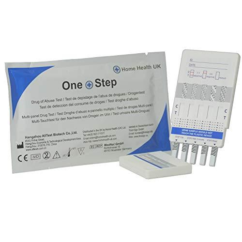 5x 10Tests in 1Drogen Test Panel Kit–Tests für Heroin, Karibik, Cannabis, Kokain, Geschwindigkeit und ()