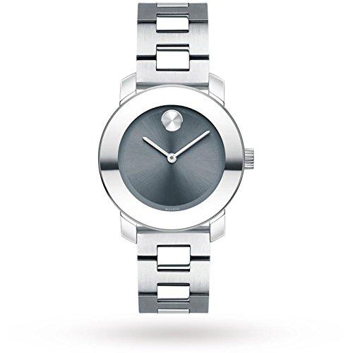 Movado Bold Femme 30mm Bracelet Acier Inoxydable Quartz Montre 3600436