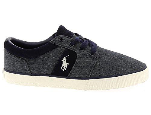 C2060 sneaker uomo POLO RALPH LAUREN HALMOREII-NE scarpa blu denim shoe man blu denim