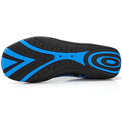 Sixspace Unisex Strandschuhe Aquaschuhe Surfschuhe Breathable Schnell Trocknend Wasserschuhe Multicolor Schwimmschuhe für Damen Herren Kinder Blau