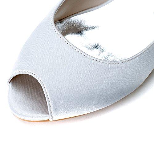 Scarpe a pelo per le donne Sandali Pesce Suggerimento semplice White