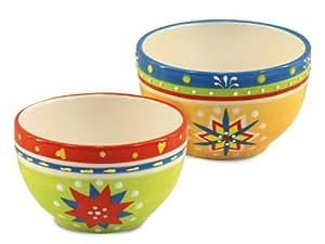 Signes Grimalt - 2 bols petit dejeuner, multicolore, ceramique, 14 cm 71046SG