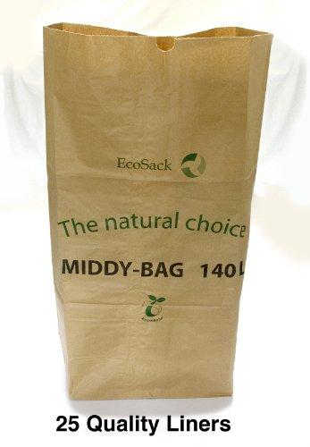 140 litres-poubelle biodégradables en Papier de 25 Premium Lot de 100% biodégradables et compostables &- livraison gratuite