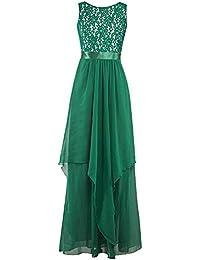 Yusealia Vestiti Donna Estate Vestito Donna Elegante Abito Donna Estivo  Lace Splice 437a8ce3484
