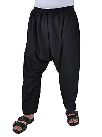 Herrenhose Sunnahose Herren - Hose arabische Islamische Männer Sunna Hose (56-58 (XL), Schwarz) (Arabischen Tracht)