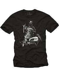 Vetement de Marque - Tee Shirt Casque Moto Homme