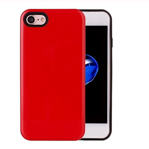 2 in 1 Solid Color PU + TPU Kombination zurück Fall Deckung für iPhone 7 by diebelleu ( Color : Green ) Red