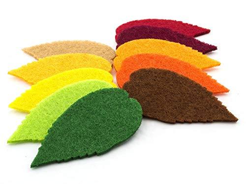 summer-ray 100Filz Blätter Laser Ausschnitt Verzierung in 10Farben-Farbe Set # 2