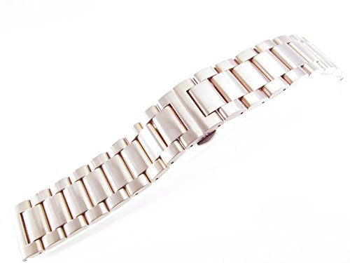 jrrs7777sólido de 24mm correa de reloj de pulsera de acero inoxidable oro rosa cepillado nueva banda