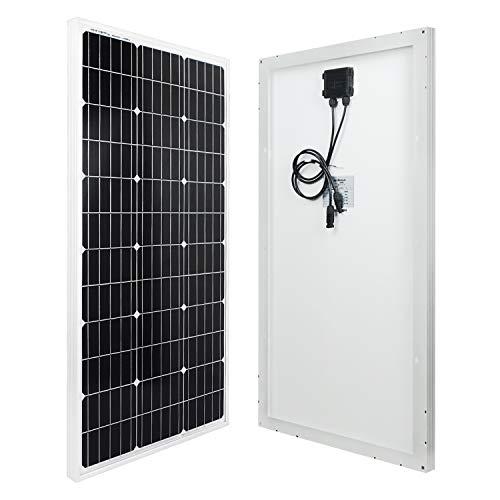 ECO-WORTHY 100 Watt 12 Volt monokristallines Solarpanel für Wohnmobil Boote 12 V Hausstrom 120w Solarpanel