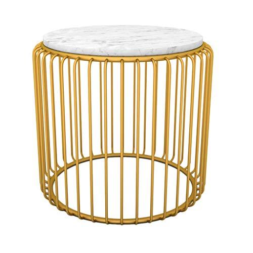 Table family CSQ Kleiner Marmor Couchtisch, Haushalts Wohnzimmer  Schlafzimmer Sofa Tisch Gold Eisen Kunst Kleine Runde Tisch Dekoration  Möbel (größe : ...