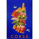 Affiche ancienne de Corse