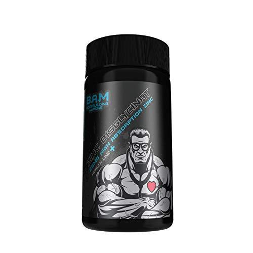 NEU: B.A.M ZINC BISGLYCINAT Zink für Bodybuilder und Sportler, 122 g Dose, 120 Kapseln (Was Ist Die Bedeutung Der Produktion)
