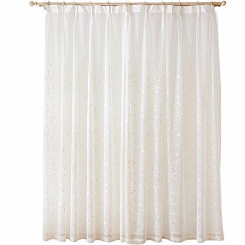Qpggp tende schermo di finestra schermo semplice semilavorato di balcone della camera da letto della stanza da letto del salone semplice della tenda del ricamo della vigna di colore solido, 300 x 270 cm (l x p) × 2