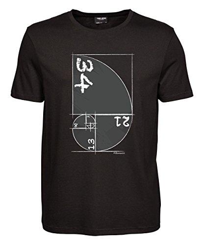 makato Herren T-Shirt Luxury Tee Fibonacci Black