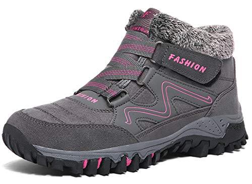 Stivaletti Donna Uomo Invernali Neve Caldo Pelliccia Bassi Stivali Scamosciata Comode Ankle Snow Boots Piatto Stivaletti Sportive Boots