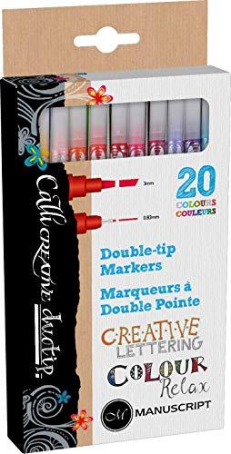 Manuscript callicreative duo-tip Pen (20Stück) - Double Ended Duo