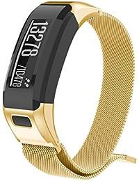 para Garmin VIVOsmart HR,Correa magnética milanesa de la Venda del Reloj del Acero Inoxidable