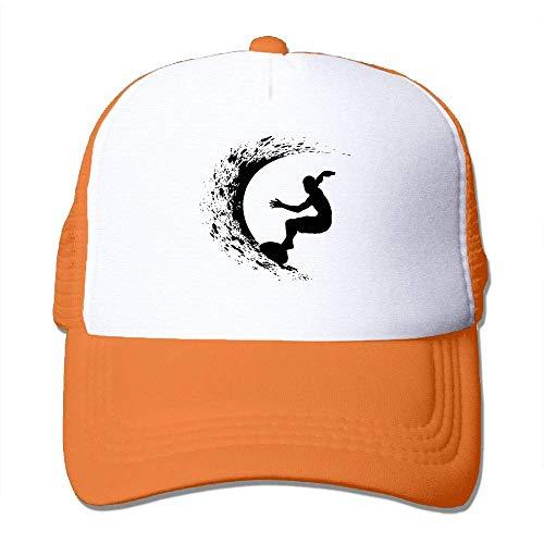 DAIAII Herren Baseball Caps,Hüte, Mützen, Classic Baseball Cap, Surfer Silhouette Unisex Trucker Hat Cap-Curved Visor (Fiestas De Adolescentes Halloween)