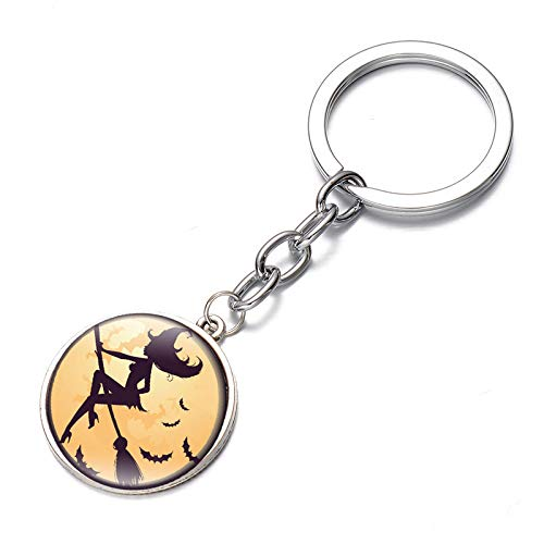 Hacoly Tasche Handtaschenanhänger Legierungen Schlüsselhalter Schlüsselanhänger Halloween Hexe Anhänger Taschenanhänger Schlüsselbund Fahrzeugschlüssel Personalisierter-Sliber