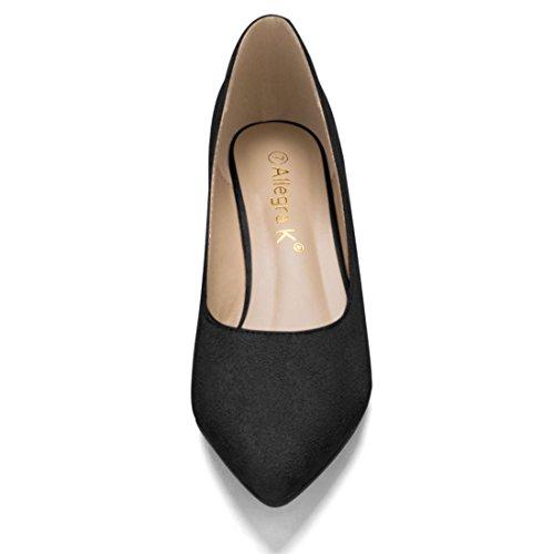 Allegra K - Scarpe col tacco, classiche donna Black
