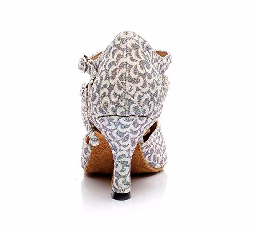 DQuietness Scarpe da ballo femminile scintillante scintillante latino / paillette / tallone cubano sintetico nero / argento / oro / multicolore Pale