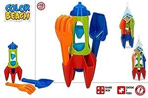 ColorBaby Conjunto Playa Cohete 30 CM Y Palas Mod SDOS 24941