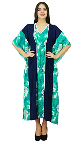 Bimba Dames collection design Pannel caftan longue caftan nuit robe couvrir maxi Vert