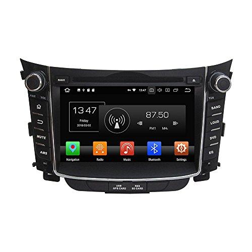 kunfine Android 8.0Octa Core Auto DVD GPS Navigation Multimedia-Player Auto Stereo für Hyundai i30201120122013201420152016Autoradio Lenkrad Kontrolle mit 3G WiFi Bluetooth gratis SD-Karte (Hyundai Dvd-player)