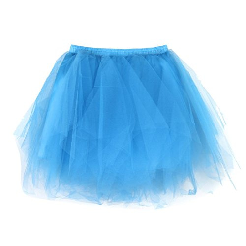 Malloom® Frauen und Damen Tutu Kleid Tütü Rock Mehrfarbig Kostüme Petticoat Reifrock Unterrock Petticoat Underskirt Crinoline für Rockabilly Kleid für Party Hochzeit Show (blau 2)