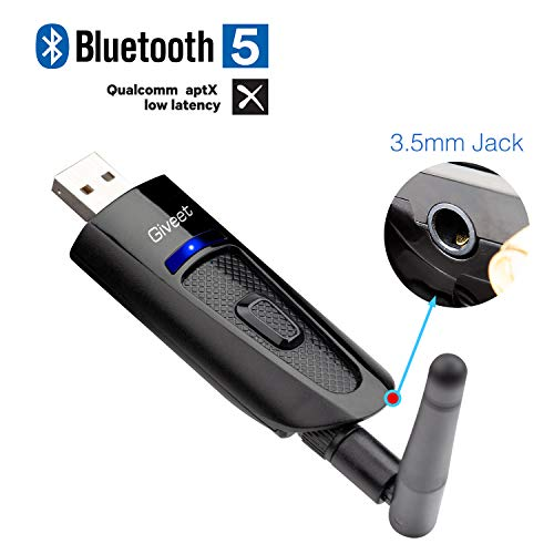 Giveet Portable USB Bluetooth audio transmisor adaptador